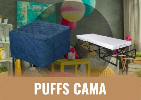 puffs cama plegable